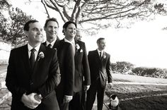 The handsome groom & his groomsmen | Photo by http://warmpears.com Wedding planned by http://savethedateevents.us Floral design by http://thelittlebranch.com
