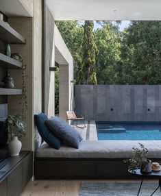 Rammed Earth Wall, Outdoor Furniture, Outdoor Decor, Tiles, Exterior, Warm, Living Room, Architecture, Building