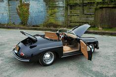 In addition, the steering wheel is offset slightly, just as an original Porsche Speedster.