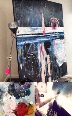 Abstract Painting for Brickroom Restaurant - by Anahata Katkin