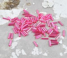 Items similar to Pink Bugle Beads Loose - Tube - Barrel - - Jewellery and Craft Supplies - 25 pcs - by DeeDeeSupplies Australian Seller on Etsy Bead Store, Bugle Beads, Mardi Gras, Jewelry Crafts, Barrel, Craft Supplies, Etsy Shop, Jewellery, Quilts