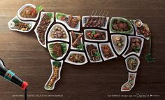Bango Sweet Soy Sauce: Beef Ad by LOWE Indonesia, Jakarta, Indonesia. Anything tastes delicious with Bango. Ads Creative, Creative Advertising, Creative Director, Art Director, Creative Design, Print Advertising, Print Ads, Advertising Agency, Best Meat