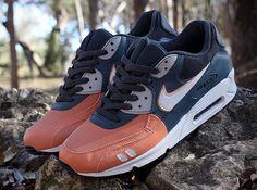"0f5334c66fa5 Nike Air Max 90 ""Salmon Toe"" Customs by JWDanklefs. Custom SneakersCustom  ..."