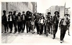 "Street gang in the Bronx,NY- 1970,  The ""Savage Skulls.""    Photographer,Laurent Corbel."