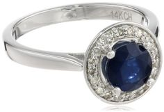 14k White Gold Round Blue Sapphire Center with Diamond Halo Ring (1.20 cttw, H-I Color, I1 Clarity), Size 6 Amazon Curated Collection,http://www.amazon.com/dp/B00CJAZ7CK/ref=cm_sw_r_pi_dp_VUVAsb1MEQ8RZ63F
