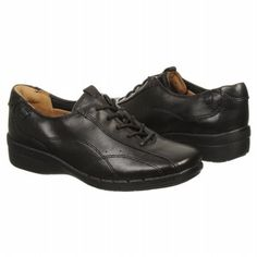Unstructured by Clarks Un-Cheer Shoes (Black Leather) - Women's Shoes - 7.5 M