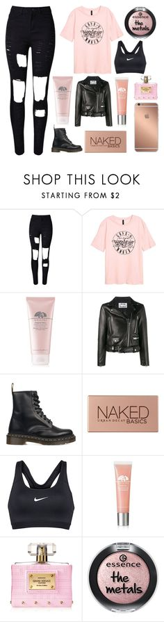 """""""if we go down, then we go down together"""" by hemmingsbxtch ❤ liked on Polyvore featuring WithChic, Origins, Acne Studios, Dr. Martens, Urban Decay, NIKE, Mura and Versace"""