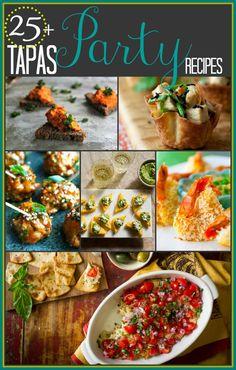 25-plus-tapas-party-recipes via @Katie Webster | Healthy Seasonal Recipes