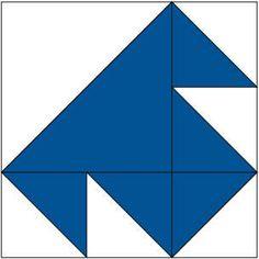 Single T Quilt Block Pattern