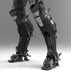 Cybernetics brown to blue ombre hair - Ombre Hair Robot Concept Art, Armor Concept, Character Concept, Character Art, Zbrush, Arte Robot, Robots Characters, Futuristic Armour, Sci Fi Armor