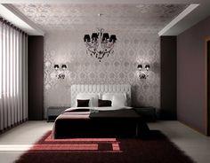 Изящная спальня в стиле ар-деко с кроватью с высоким изголовьем: купить всё необходимое и  получить консультацию дизайнера вы можете в Центре дизайна и интерьера 'ЭКСПОСТРОЙ на Нахимовском'