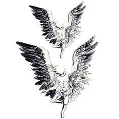 Yeeech Temporary Tattoos Sticker for Men Large Fake Sexy Cool Angel Wings Designs Arm Leg Neck Back Body Art Waterproof Makeup Dragon Tattoo Neck, Wing Neck Tattoo, Neck Tattoo For Guys, Fire Tattoo, Large Tattoos, Tattoo Stencils, Flower Frame, Temporary Tattoo, Body