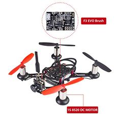SunFounder BEE100 100mm Micro FPV Racing Quadcopter Drone 600TVL 58G 40CH 25mW Camera 1S 8520 DC MOTOR F3 EVO Brush Flight Controller Carbon Fiber Frame Kit Cleanflight Betaflight -- You can get more details by clicking on the image. Note: It's an affiliate link to Amazon