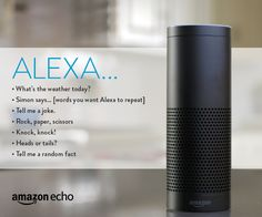 7 Games to Play with the Amazon Echo || Play games with the Amazon Echo, or ask Alexa to tell you jokes. Smart Home Technology, Technology Gadgets, Tech Gadgets, Uber Hacks, What's The Weather Today, Amazon Hacks, Alexa Echo, Smart Home Automation, Alexa Voice