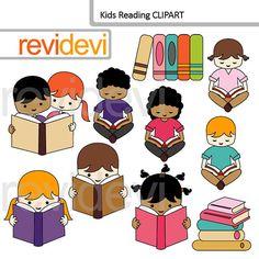 50% venta Niños leyendo prediseñada paquete / niños sentados