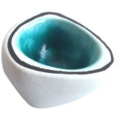 Georges Jouve Vessel White/ Turquoise | From a unique collection of antique and modern ceramics at http://www.1stdibs.com/furniture/dining-entertaining/ceramics/
