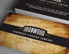 """Check out this @Behance project: """"Ironwood Hardwood Flooring Business Cards"""" https://www.behance.net/gallery/5449637/Ironwood-Hardwood-Flooring-Business-Cards"""