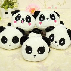 "Plush Doll Toy Stuffed Animal Cute Panda Pillow Quality Bolster Kid Gift 20cm 8"""