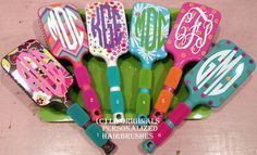 Day 16- A Great Christmas Gift for the girls and ladies! Personalized Hairbrushes by preppypapergirl on Etsy, $16.50 #Christmas #Giftidea