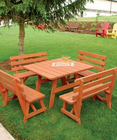 Look at this Five-Piece Outdoor Square Table Set on #zulily today!