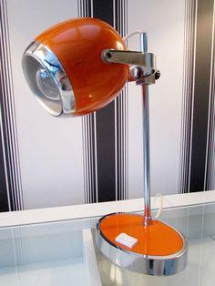 Buy Manhattan Floor Lamp from the Next UK online shop £75 | Home ...:Details about FANTASTIC QUALITY ORIGINAL 1970s DUTCH ORANGE & CHROME DESK  LAMP - FUNKY RETRO,Lighting