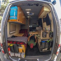 """Courtesy by @vanlifetravelogue Thanks for TAG us! #vanlifers """"Van life had a lot to do with a lot of things but fortunately, luck wasn't one of them. It took so much work, most of which had nothing to do with the van, and everything to do with enabling the lifestyle. And no, it's not a food truck says the van lifer with 10 sq. ft. of cutting boards """" #liveyouradventure…"""