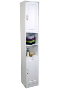 bathroom linen cabinet to maximize small space!
