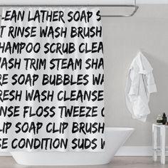 "Bubble Bath Girl Get Naked Fabric Shower Curtain Set Bathroom w// Free Hooks 71/"""