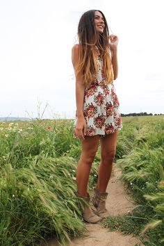 Spring playsuit , fashion, spring, gossips made me famous, flowered