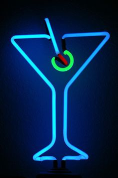 Martini Neon Light by mbrand, via Flickr