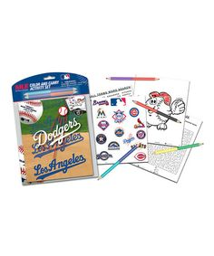 Look what I found on #zulily! Los Angeles Dodgers Color & Carry Activity Set #zulilyfinds