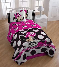 Rock the Dots with a Polka Dotted Minnie Mouse Bed Set