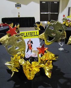 Party People Celebration Company - Special Event Decor Custom Balloon decor and Fabric Designs: Broadway Themed Awards Banquet