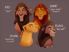 The Children of Kovu and Kiara by JaeTaz on DeviantArt Lion King Story, Lion King Fan Art, Lion King 2, Disney Lion King, King Art, Lion King Names, Lion King Quotes, Kiara And Kovu, Simba And Nala