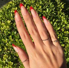 Red Nail Art, Red Acrylic Nails, Acrylic Nail Designs, Red Art, Acrylic Art, Red Nail Designs, French Nail Designs, Nail Art Tips, Diy Red Nails