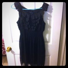 Black Ruffle Dress LBD for any occasion! Super cute! Dress it up or down. Versatile and in excellent condition. Dresses Mini