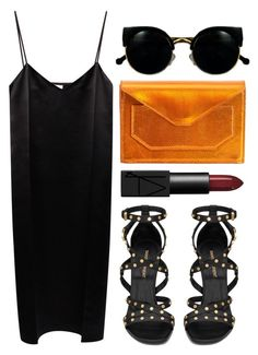 """""""Fire Meet Gasoline"""" by rosiee22 ❤ liked on Polyvore featuring Nina Ricci, Narciso Rodriguez, Yves Saint Laurent, Retrò and NARS Cosmetics"""