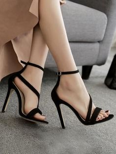 Pretty Ankle Strap Sandal High Heels from Eoooh❣❣ - heels classy High Heels Boots, Platform High Heels, Black High Heels, Ankle Straps, Ankle Strap Sandals, Pumps Heels, Stiletto Heels, High Shoes, Heeled Sandals