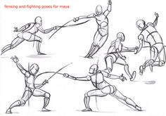fencing poses for maya_02 by AlexBaxtheDarkSide.deviantart.com on @deviantART