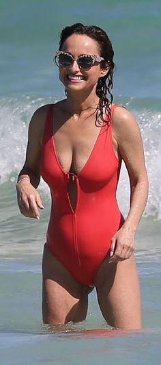 Giada De Laurentiis Rocking a Red bikini at a Miami Beach Red Bikini, Bikini Swimwear, Swimsuits, Bikini Babes, Bikinis, Sarah Palin Photos, Kirsty Gallacher, Beach Babe, Beauty