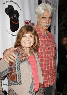 Katharine Ross with Sam Elliott. She's amazing at 73. not sure his age, but they're a great couple.
