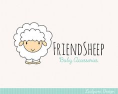 Cute Logo Sheep Logo Baby Logo Baby Brand by LadyumiDesign on Etsy