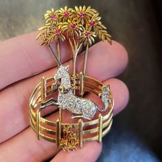 Up for auction today is this wonderful unicorn brooch by Cartier. The design heralds from 'The Unicorn Rests in a Garden', one of the seven… Cartier, Unicorn, Auction, Bling, Brooch, Jewelry, Instagram, Wall, Design