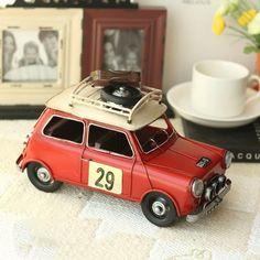 Vintage Antique Style Mini Suitcase Car Metal Model Memory of Old Times Decoration Gift - Gadgets-Novelty - TopBuy.com.au