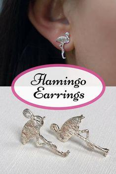 Adorable flamingo earrings! On my wishlist :-) #flamingo #earrings #ad