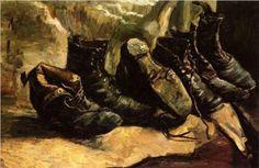 Vincent Van Gogh「THREE PAIRS OF SHOES」(1886)