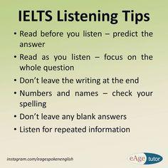 IELTS Listening Tips #ielts #listening Slang English, English Exam, English Tips, English Writing, English Study, English Lessons, English Words, Learn English, English Grammar