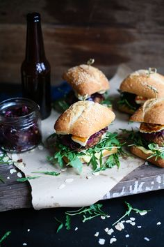 The Sandwich Series ~ The Ultimate Burger; Lamb Harissa & Halloumi Burger