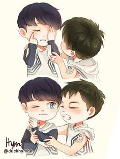 Xiuhan fanart ~ awn♡ (see logo on the pict for credit)