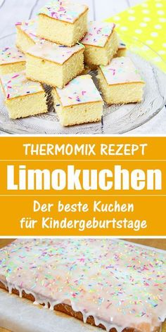 Lemon cake - recipe from the Thermomix. The best cake for childbirths. - This cake goes Ratz Fatz and is not only a hit on children& birthday parties. Donut Recipes, Cake Recipes, Dessert Recipes, Lemon Desserts, No Bake Desserts, Lime Cake Recipe, Soda Cake, Homemade Donuts, Chocolate Icing